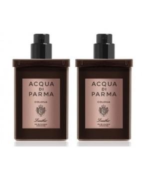 دو عدد ادوکلون 30میل آکوا دی پارما کلونیا لدر کنسانتره مردانه Acqua di Parma Colonia Leather 2 X 30ML TRAVEL SPRAY