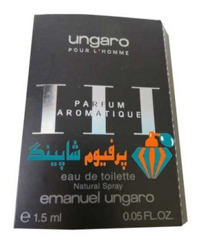 Ungaro pour l Homme III Parfum Aromatique Emanuel Ungaro for men